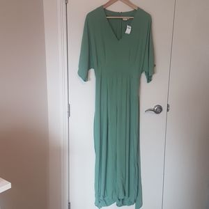 Gap wide leg jumpsuit MUTED green